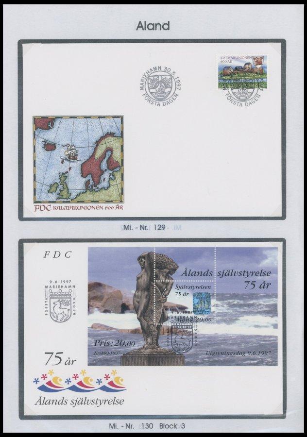 Nett Aland Atm 2 Fdc Briefmarken Aland