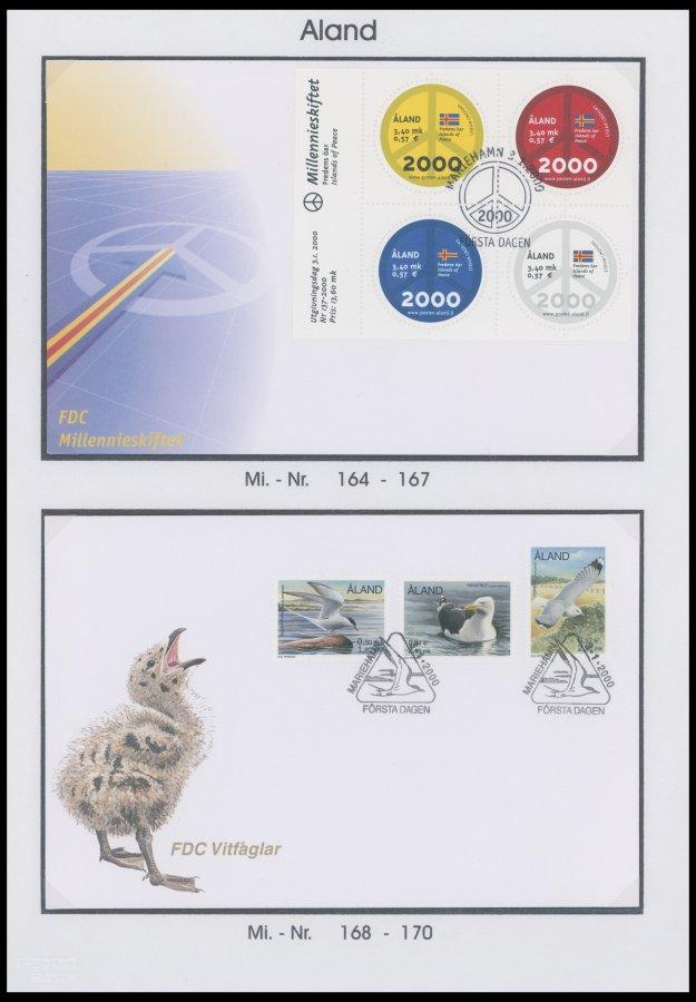 Briefmarken Europa Nett Aland Atm 2 Fdc