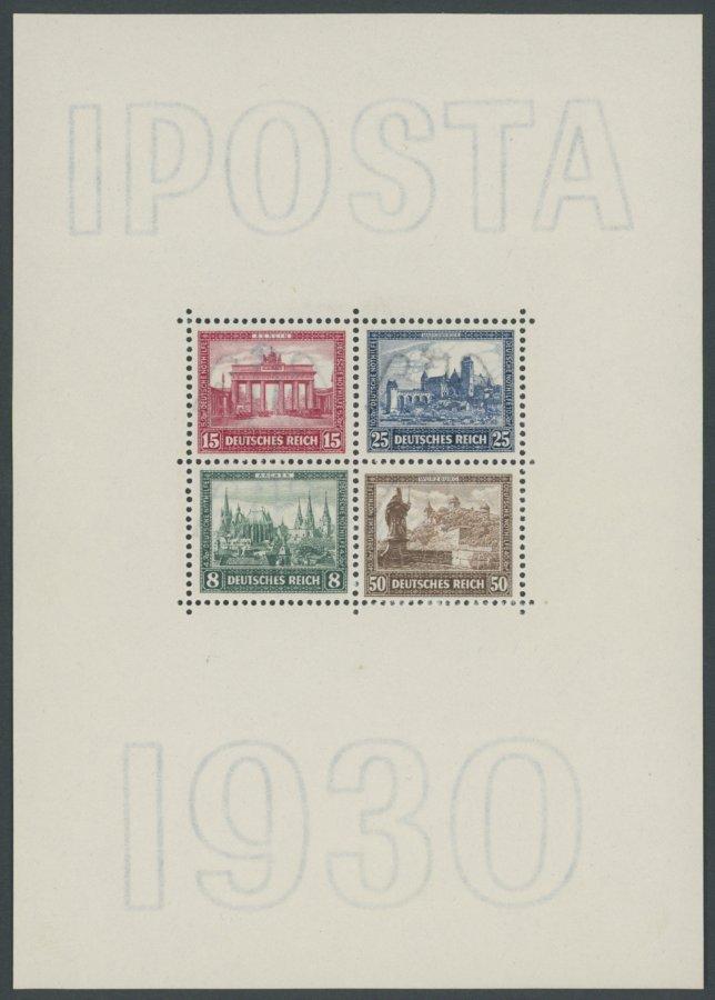 Dt-Reich-1930-Bl-IPOSTA-postfrisch-signiert-und-FA-H-G-Schlegel-Die